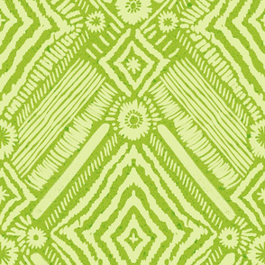 textural diamonds - leaf