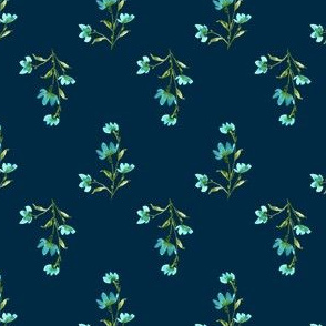 Giacinta Spring Turquoise Floral - Teal