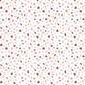 Minimal terrazzo texture abstract scandinavian trend classic basic spots design multi color pink violet girls nursery