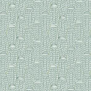 Estonian Button Stitch in Green Tones  ©Jennifer Garrett