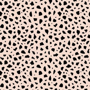 Minimal terrazzo texture abstract scandinavian trend classic basic spots design soft beige black neutral nursery