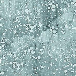 pine and mint rain-splatter