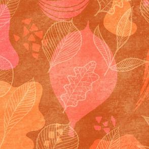 Faux Leaves - orange