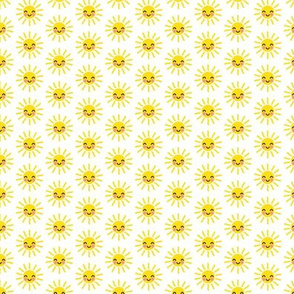 """(3/4"""" scale) Sunshine - cute suns - yellow and white - condensed - C20BS"""