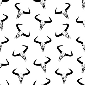 Western Bull Horns Print
