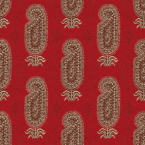 FRENCH VINTAGE PAISLEY RED