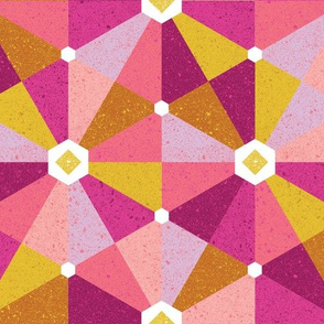 playful hexagons - warm