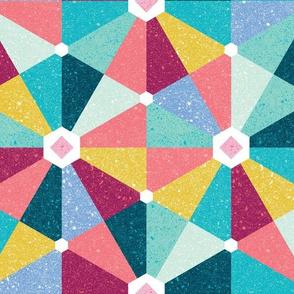 playful hexagons - multi