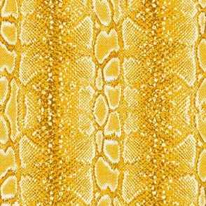 faux snake in bright yellow