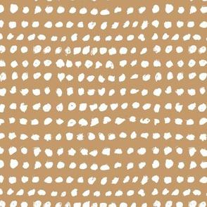 Inky spots and dots raw brush spots minimal design Scandinavian nursery neutral cinnamon white
