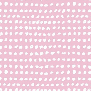 Inky spots and dots raw brush spots minimal design Scandinavian nursery neutral soft pink girls