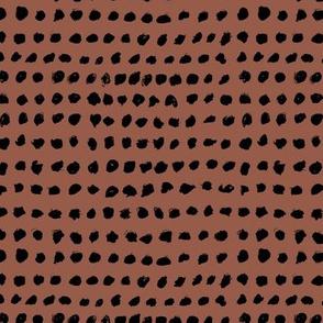 Inky spots and dots raw brush spots minimal design Scandinavian nursery neutral chocolate brown