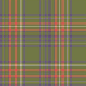 Tartan green and red