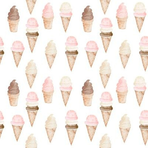 "4"" Neapolitan Ice Cream Cones"