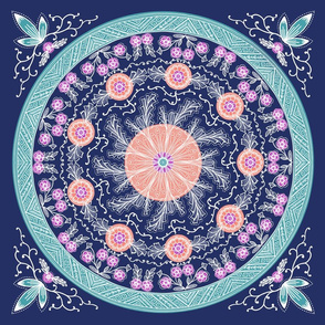 Blue Circular Pattern