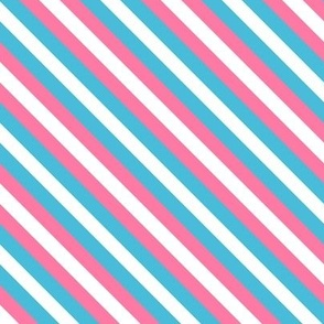 Trans Pride Stripes (brighter) Diagonal