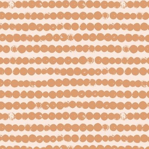 String of dots raw abstract ink spots minimal Scandinavian style neutral nursery orange beige sand