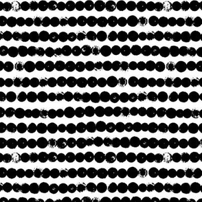 String of dots raw abstract ink spots minimal Scandinavian style neutral nursery monochrome black and white