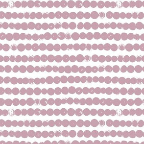String of dots raw abstract ink spots minimal Scandinavian style neutral nursery off white mauve purple