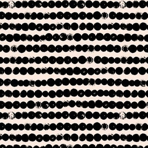 String of dots raw abstract ink spots minimal Scandinavian style neutral nursery beige black
