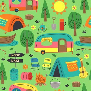 Cute Retro Camping Vintage Camper