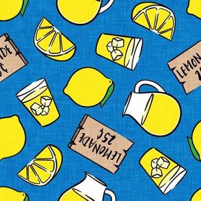 lemonade stand - lemons summer - blue - LAD20