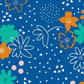 Doodle floral print
