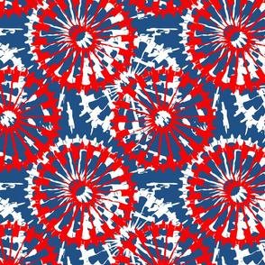 Tie Dyed spirals2 red_white_blue