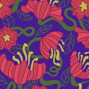Poppies on Purple
