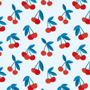 Little Cherry boho love garden for spring summer nursery design neutral red blue usa traditional flag colors