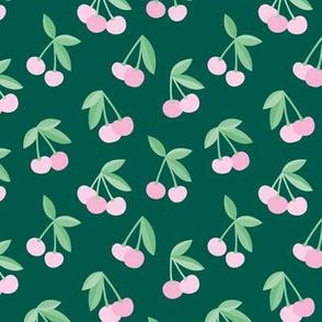 Little Cherry boho love garden for spring summer nursery design neutral forest green pink mint