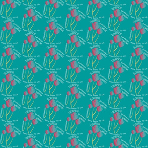 Hospice with Tulips Teal