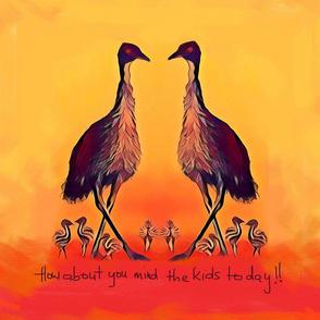 Comical emus