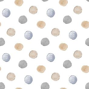 neutral polka dot watercolor pattern