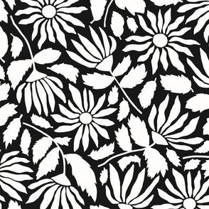 Wildflower Silhouette | Black + White