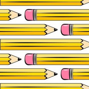 (large scale) pencils - number 2 pencil - school supplies - white - LAD20