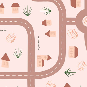 Roads and Tiny houses - Rose