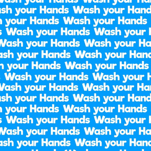 wash your hands on blue