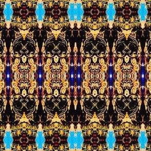 Blue design columns