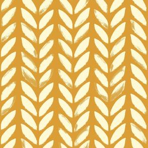 Knit Print { Ochre - large }