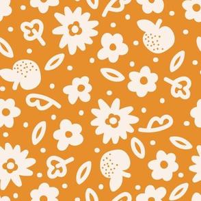 Grand Fleurs ochre