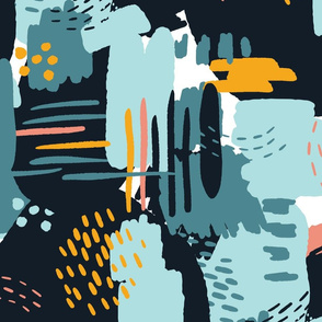 Painterly Strokes and Color Blocking