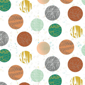 Markmade Dots- Bronze and Green