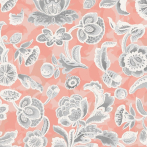 Eclectic Jacobean- Coral