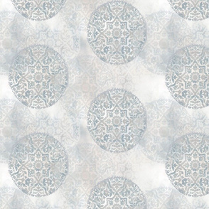 Faded Medallion- Silver