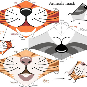 Animals face masks
