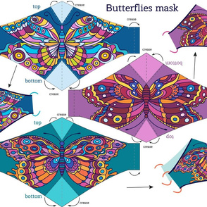 Butterflies face mask