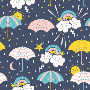 Umbrella Friends navy