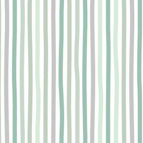 Irregular hand drawn stripes boho summer breton marine Parisian style minimal basic vertical sage green gray spring palette