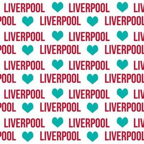 liverpool football fabric - love